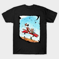 Fear And Loathing In Las Vegas Calvin And Hobbes Parody Black T-Shirt S-6XL