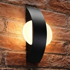 Auraglow Integrated 11W LED Indoor / Outdoor Warm White Glass Black Wall Light