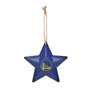 Golden State Warriors NBA Metal Distressed Tree Ornament - FREE SHIPPING!