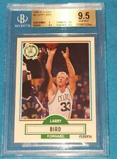 LARRY BIRD 1990 FLEER #8 CELTICS HOF BECKETT BGS 9.5 * GEM MINT  !