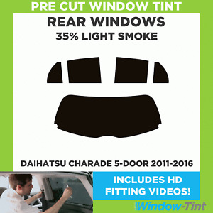 Pre Cut Window Tint - Daihatsu Charade 5-door 2011-2016 - 35% Light Rear