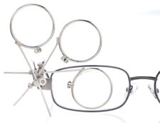 Magnifier 9.9X Cosplay Steempunk Silver Triple Lens Magnifying Glass Clip Loupe
