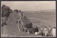 Postcard Shanklin Isle of Wight vintage view of Cliff Path RP