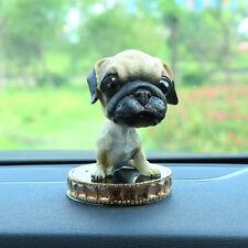 BobbleHead Pug Dog Figurine wiht Perfume Base Car Home Doll Ornaments Decor Gift