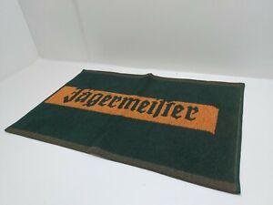 Jagermeister Liqueur Advertising Green/Orange Cotton Bar Towel