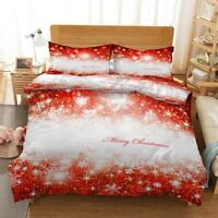 Red Dots Christmas 3D Print Duvet Quilt Doona Covers Pillow Case Bedding Sets