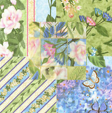 "Hydrangea Radiance 30 4"" fabric squares 100% cotton quilting quilt floral"