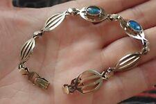 Lovely Sterling Silver Opal Bracelet