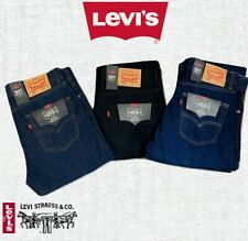 Levi's® 501™ Brand New Original Fit Straight Leg Jeans for Mens Blue Black