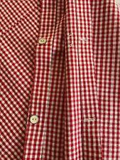 Vintage red & white gingham homespun duvet cover