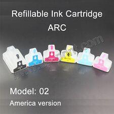 HP02 Refillable ink Cartridges for Photosmart 8250 3110 D6160 D7160 D7260 C5180