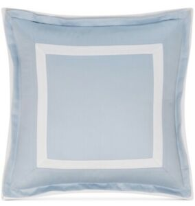 """Hotel Collection Contrast Flange Supima 18"""" Square Decorative Pillow Sky Blue"""