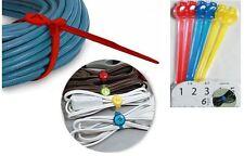 6 Cable de Plástico Organizador De Alambre etiquetado titular Corbata ordenado Etiquetas Cable de oficina en el hogar