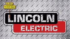 "Lincoln Electric Welder Replacement Decal/Sticker 8.4""L Die Cut PRINTED ON CLEAR"