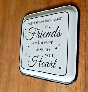 Vintage Enamel Metal sign Friends are forever close to your heart UK seller