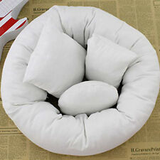 4pcs Newborn Baby Photography Pillows Wheat Donut Cotton Filler Posing Props