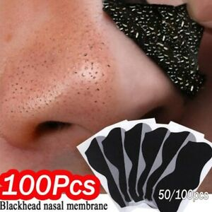 100pcs Nose Blackhead Remover Mask Deep Cleansing Skin Care Shrink Pore Acne