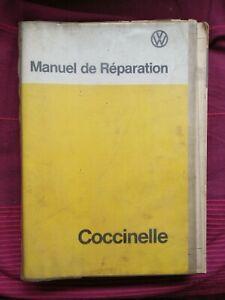 Rare Manuel De réparation Volkswagen Coccinelle Édition Avril 1975