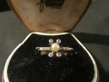 Lovely Art Deco 18ct Gold, Plat, Diamond & Pearl Ring