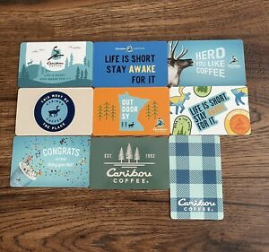 Caribou Coffee Collectible Gift Cards Lot of (9) NEW No Value