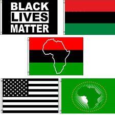 3x5 0.9mx5 ' Lote Juego África Africana Negro Vive Matter Union 5 Banderas
