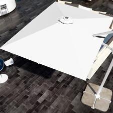 Telo per ricambio ombrellone LED bianco 3x2 in poliestere idrorepellente