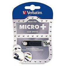 ($0 p  &h) Verbatim Micro+ USB Drive 16GB  Store n Go Micro p/n 97764 Black