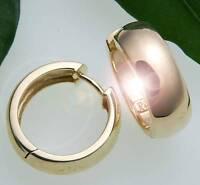 Damen Ohrringe Klapp Creolen Gold 585 gewölbt schwer 18 mm Gelbgold