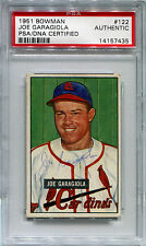 1951 Bowman JOE GARAGIOLA Signed Auto Slabbed Card Red Flip RC Rookie PSA/DNA
