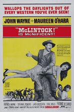 McLintock! (1963) John Wayne movie poster print