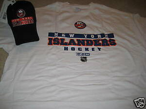 NWT NEW YORK ISLANDERS T-SHIRT & HAT COMBO SIZE MED