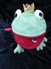 Ikea Minnen Groda Frog Prince Pajama PJ Keeper Zipper Mouth Green Pillow Plush