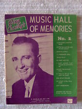 Vintage Songbook - Bing Crosby's Music Hall of Memories No.2 - D Davis & Co Melb