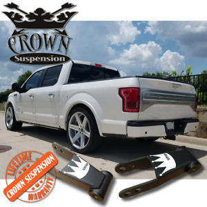 "Crown Suspension Ford F150 F-150 1-2"" Lowering Drop Shackles"