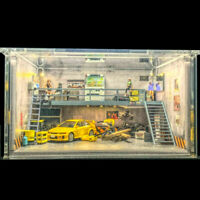 Uncle BeiShan 1:64 Garage Mezzanine Model Car Display Cabinet Dioramas