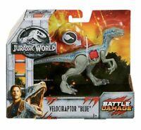 Jurassic World Battle Damage Velociraptor Blue Dinosaur Toy Action Figure New