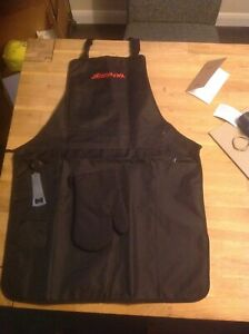snap on genuine bbq apron oven glove and bottle opener.