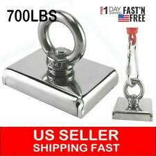 Upto 700 Lbs Fishing Magnet Kit Pull Force Strong Neodymium Or Rope Amp Carabiner