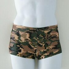 MENS Square Cut Swimsuit in Camouflage Print S M L XL