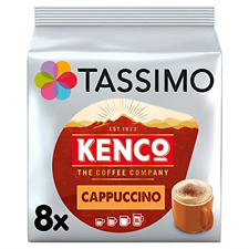 Tassimo Kenco Cappuccino Coffee and Milk Pods Pack of 5, Total 80 pods, 40
