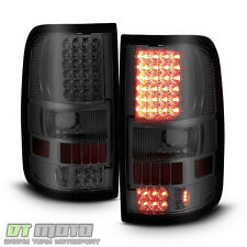 Smoked 2004-2008 Ford F150 Styleside LED Tail Lights Brake Lamps Left+Right Sets