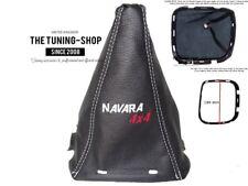"NISSAN NAVARA D40 GEAR GAITER LEATHER + PLASTIC FRAME ""4x4"" EMBROIDERY"
