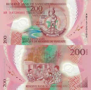 Vanuatu 200 Vatu (ND/2014) - Statue/Family/Polymer/p-12 (p-14) UNC