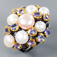 Pearl Ring Silver 925 Sterling Special Jewelry Price! Size 7 /R141864