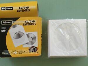 Fellowes CD/DVD Sleeves Box Of 60+ Sleeves Left EC