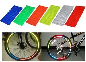 Bicycle Wheel Rim Reflective Stickers Florescent Bike Safety Cycling Reflectors