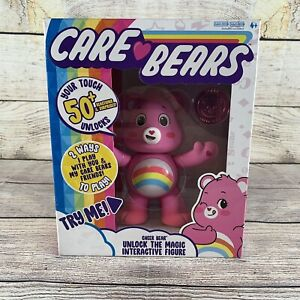 NEW 2020 Care Bears Pink Cheer Bear Interactive 5'' Figure Come With Coin