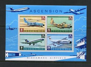 C310  Ascension Island 1975  aviation airfield  airplanes  sheet       MNH