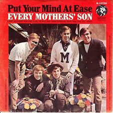 """EVERY MOTHER'S SON  Put Your Mind At Ease PICTURE SLEEVE 7"""" 45 rpm record NEW"""