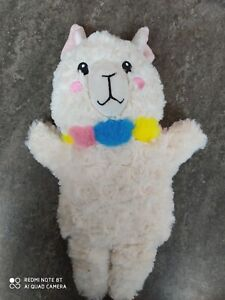 LITTLE TOWN ALPACA  Cute fluffy hand puppet